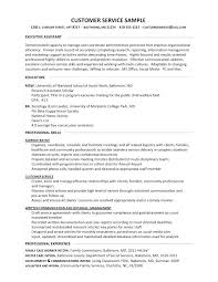 Skills Sample Resume Customer Service With Section