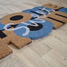 paillasson a la coupe paillasson coco découpé 40 x 75 cm home sweet home decoweb