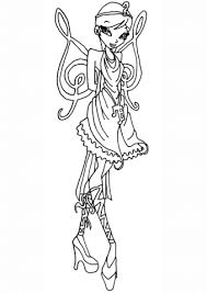 Click To See Printable Version Of Winx Club Princess Galatea Fairy Coloring Page