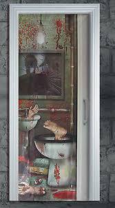 toilette badezimmertür poster dekoration grausame blutigen körperteil ebay