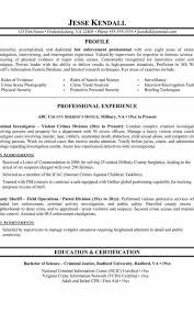 Police Officer Resume Example Unique Templatesine Ficer