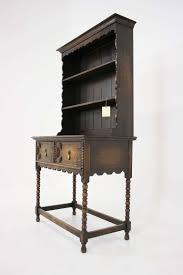 Tiger Oak Dresser Beveled Mirror by Antique Scottish Petite Oak Welsh Dresser Buffet And Hutch