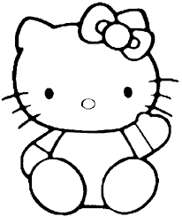Saying Hello Kitty Coloring Pages
