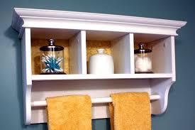 bathroom shelf with towel bar home decorations