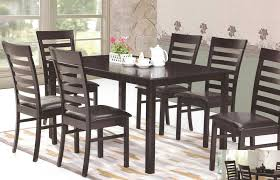 Casa Blanca CB Seattle 7PC 7 Pc Espresso Finish Wood Dining Table Set