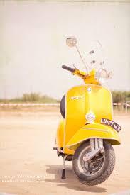 The Yellow Vespa Retro