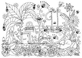 Vector Illustration Zen Tangle House Of Radishes Doodle Flowers Garden Nature Forest