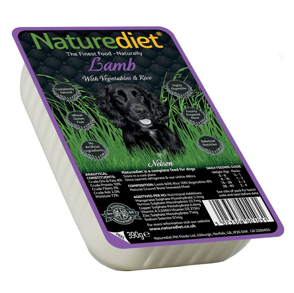 Naturediet Dog Food - Lamb, Rice & Vegetables