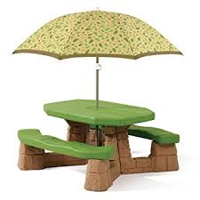 amazon com step2 naturally playful picnic table with umbrella
