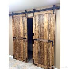 2018 8ft Antique Style Country Double Door Kit Black Rustic Steel ... 66ft Classic Antique Steel Sliding Hdware Barn Door Dark Coffee Reclaimed Wood Doors Fniture Rustic Barnwood And Reclaimed Wood Door Sliding Steves Sons 36 In X 84 2panel Solid Core Unfinished Knotty Best 25 Doors Ideas On Pinterest Interior Barn 6ft Modern American Style Allan Carver Fireplace Mantels Td Diy Under 10 30 Minutes Diy Diyhd 5ft 13ft Stainless Steel Hdware New Wine Racking Red Ridge Cellars