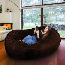 Amazon.com: Gigantic Bean Bag Chair In Espresso With Memory Foam ... Amazoncom Jaxx Nimbus Spandex Bean Bag Chair For Kids Fniture Creative Qt Stuffed Animal Storage Large Beanbag Chairs Stockists Best For Online Purchase Snorlax Sizes Pink Unique Your Residence Inspiration Childrens Bean Bag Chairs Ikea Empriendoclub Sofa Sack Plush Ultra Soft Memory Posh Stuffable Ultimate Giant Foam