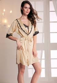 online get cheap satin lace robe aliexpress com alibaba group