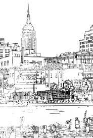 City Adult Drawing New York Coloring Pages
