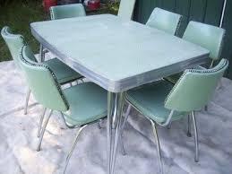 RETRO KITCHEN TABLES CHROME