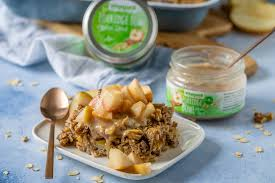 köstliches apfel zimt baked oatmeal warmer vollwertiger