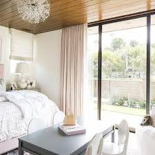 stained plank bedroom ceiling design ideas