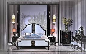 bett 2x nachttisch 3 tlg schlafzimmer set design modern luxus schlafzimmer