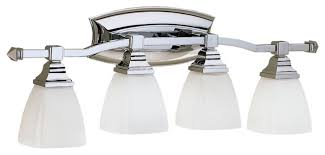 impressive 4 light chrome wall sconce bathroom vanity
