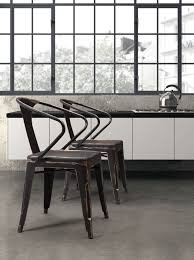 100 Modern Metal Chair Helix Dining Set Of Two