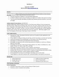 Qtp Sample Resume For Software Testers Best Of Fresh Unique