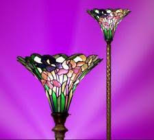 Tiffany Style Glass Torchiere Floor Lamp by Tiffany U0026 Co Stained Glass Floor Lamps Ebay