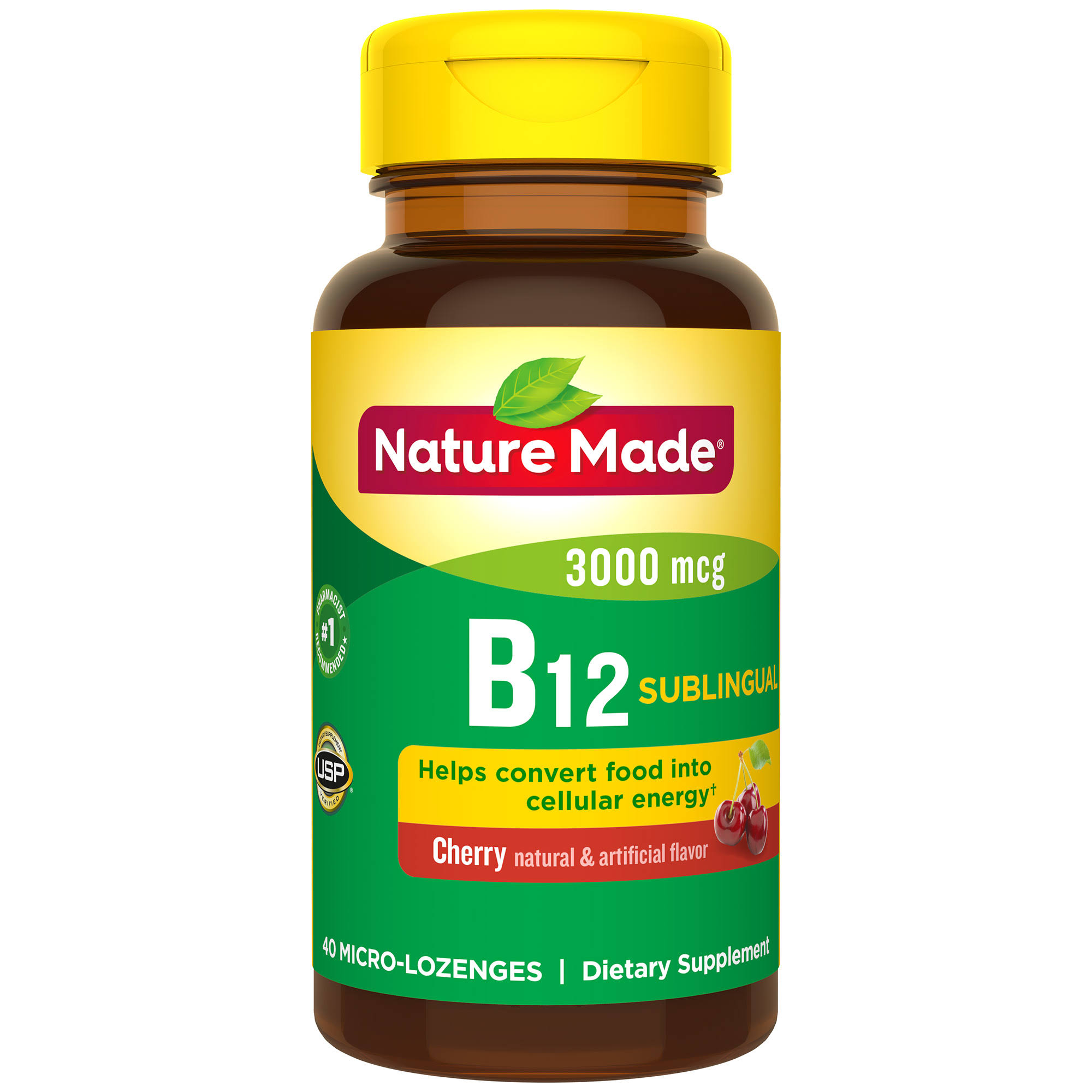 Nature Made Vitamin B12 Sublingual Supplement - 40ct