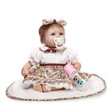 18inch Reborn Baby Dolls Newborn Realistic Soft Silicone Girl Toyin