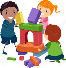 Children Playing With Toys Clipart 9