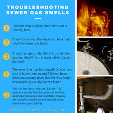 troubleshooting sewer gas smells city wide plumbing