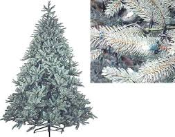 Lifelike Artificial Christmas Trees Canada by 9 U0027 Just Cut Blue Aspen Frasier Pre Lit Artificial Christmas Tree
