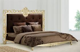 Headboard Designs For King Size Beds by Furniture Carved Headboard With Golden Color Trim And Elegant