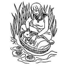 Baby Moses Was Found In Basket And Brought To The Castle From Nile River Parts Red Sea Coloring Pages