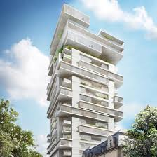 100 Riverpark Apartment Ole Scheeren To Transform Frankfurt Office Block Into Jengalike