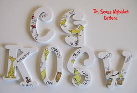 Dr Seuss ABC Alphabet Wall Art Set A Z