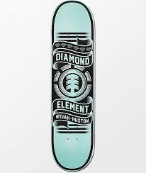 100 Ccs Decks Element X Diamond Supply Co Nyjah Huston 80 Skateboard Deck