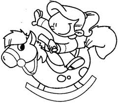 Kids Coloring Pages Rocking Horse