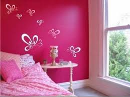 InteriorDelightful Simple Wall Painting Designs For Bedroom Trends And Home Design Pictures In Pink