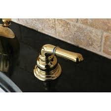 Mini Widespread Faucet Brass by Kingston Polished Brass 4