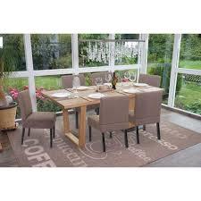 6x esszimmerstuhl hwc f61 stuhl lounge stuhl stoff textil braun