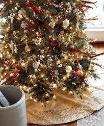 Satin Sequin Christmas Tree Skirt
