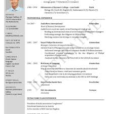 Resume Template Word Format One Page Sample Regarding Resumes On Templates