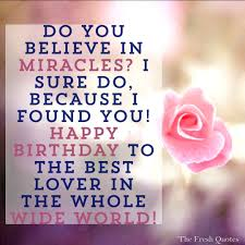 45 Cute And Romantic Birthday Wishes With Images Quotes Thoughts