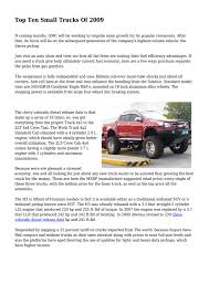 100 Best Truck For The Money Top Ten Small S Of 2009 By Mindmagdaily Issuu