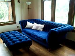 Thomasville Leather Sofa And Loveseat by Apartments Interesting Royal Blue Tufted Design Throw Sofa And