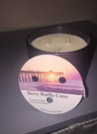 Pumpkin Waffle Candle by Berry Waffle Cone 3 Wick Candle Mercari Buy U0026 Sell Things You Love