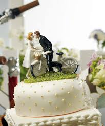 Vintage Bicycle Wedding Cake Topper