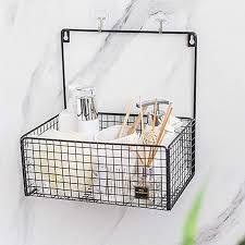 ablagen schalen körbe ohne bohren badezimmer regal ablage