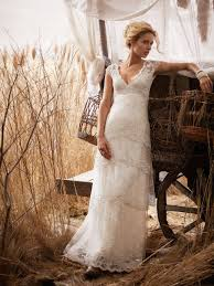 A Lace Rustic Wedding Gown