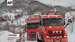 100 Viking Trucking Trucks Go Over Cliff In Norway YouTube