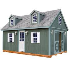 12x16 Storage Shed With Loft Plans by Best Barns Millcreek 12 Ft X 20 Ft Wood Storage Shed Kit With